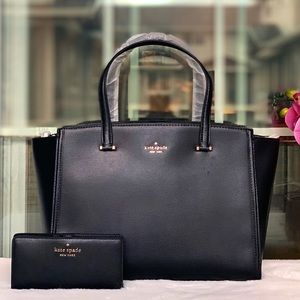 new KS patterson Drive Black Satchel set